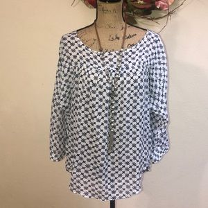 LOFT BOHO Print Top Sz Medium